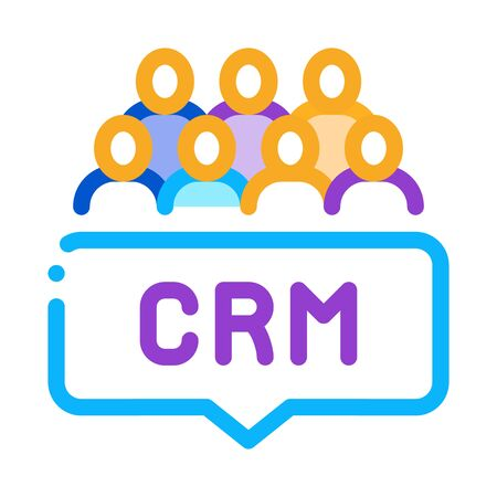 customer relationship management icon vector. customer relationship management sign. isolated contour symbol illustration