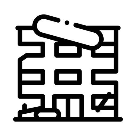 high-rise restoration icon vector. high-rise restoration sign. isolated contour symbol illustration