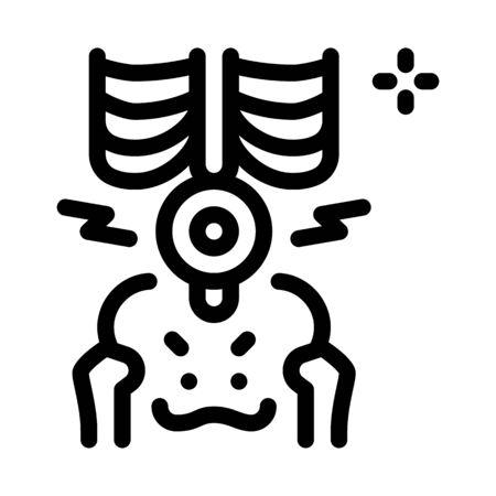 back lumbar arthritis icon vector. back lumbar arthritis sign. isolated contour symbol illustration