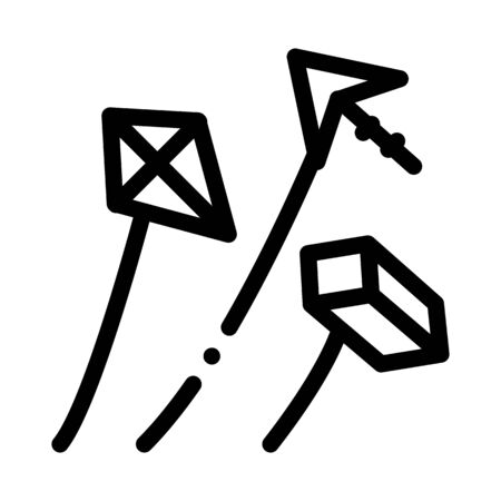aerial items to launch icon vector. aerial items to launch sign. isolated contour symbol illustration