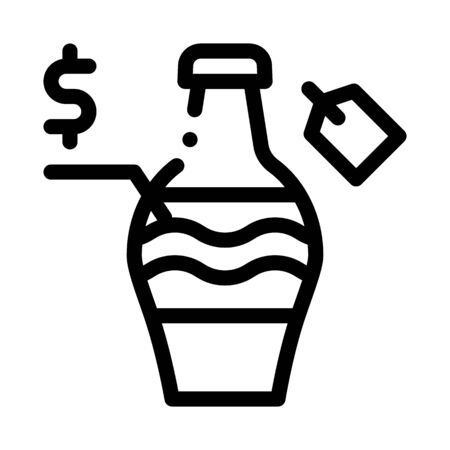 auction sale bottle icon vector. auction sale bottle sign. isolated contour symbol illustration  イラスト・ベクター素材