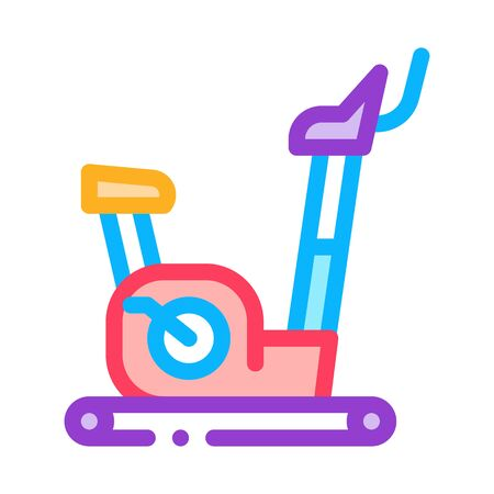 exercise bike icon vector. exercise bike sign. color symbol illustration
