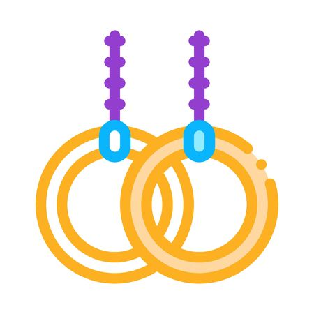 rings sports equipment icon vector. rings sports equipment sign. color symbol illustration