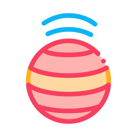 spinning ball icon vector. spinning ball sign. color symbol illustration
