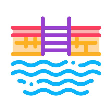water pool icon vector. water pool sign. color symbol illustration
