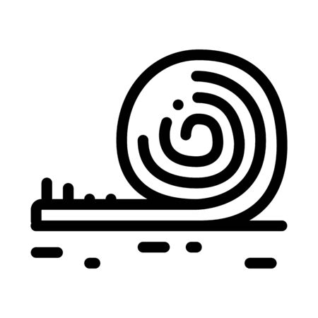 rolled artificial turf icon vector. rolled artificial turf sign. isolated contour symbol illustration Stock Illustratie