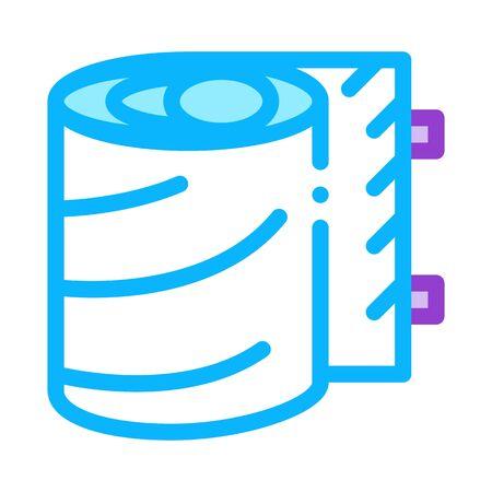 medical bandage roll icon vector. medical bandage roll sign. color symbol illustration