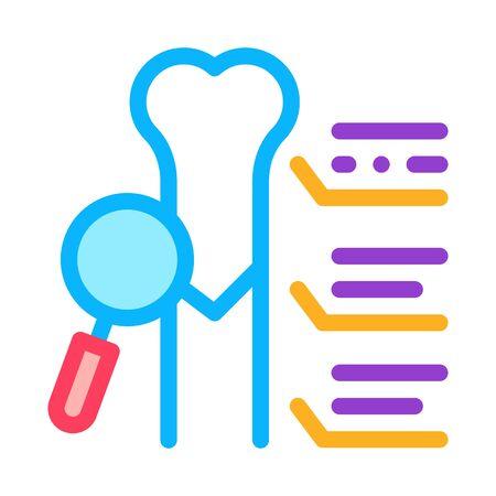study bone joint icon vector. study bone joint sign. color symbol illustration Ilustrace