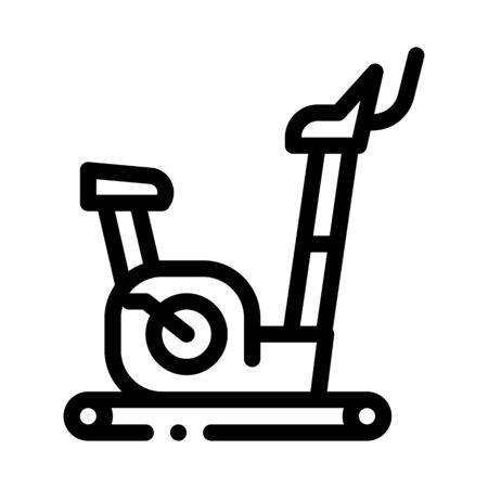 exercise bike icon vector. exercise bike sign. isolated contour symbol illustration Ilustrace