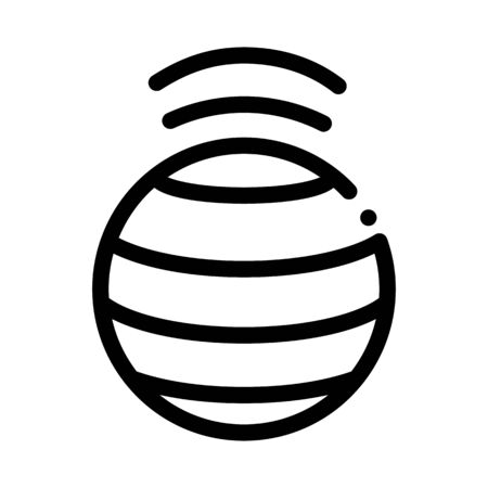 spinning ball icon vector. spinning ball sign. isolated contour symbol illustration Ilustrace