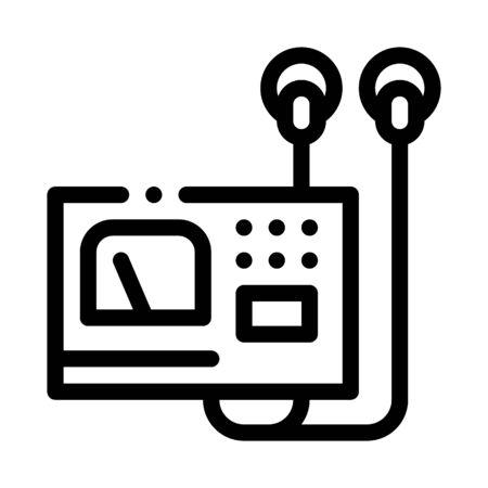 medical breathing apparatus icon vector. medical breathing apparatus sign. isolated contour symbol illustration