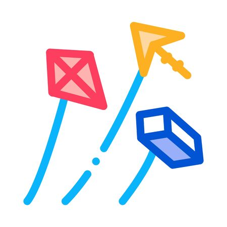 aerial items to launch icon vector. aerial items to launch sign. color symbol illustration