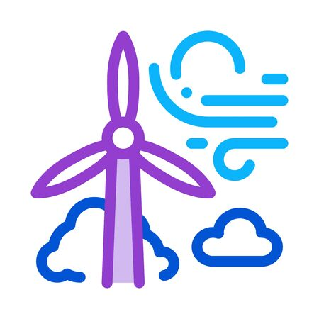 high wind energy mill icon vector. high wind energy mill sign. color symbol illustration