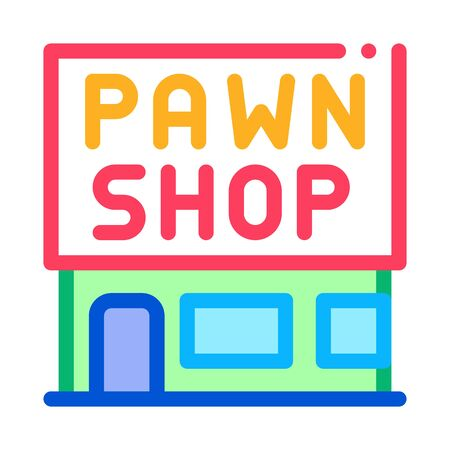 appearance of pawnshop icon vector. appearance of pawnshop sign. color symbol illustration 向量圖像