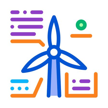parsing study windmill icon vector outline illustration