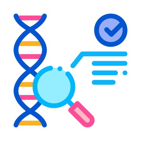 blood dna test icon vector. blood dna test sign. color symbol illustration