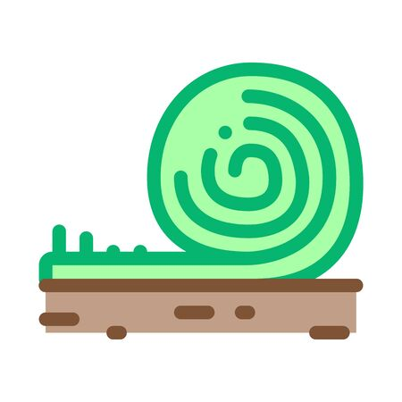 rolled artificial turf icon vector. rolled artificial turf sign. color symbol illustration