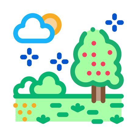 territory of well-groomed forest icon vector. territory of well-groomed forest sign. color symbol illustration