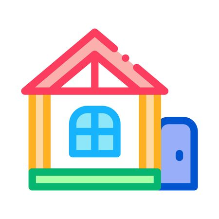 play house for children icon vector. play house for children sign. color symbol illustration