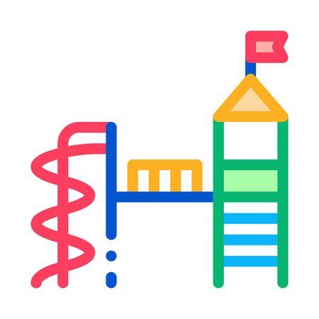 playground for children icon vector. playground for children sign. color symbol illustration Illustration