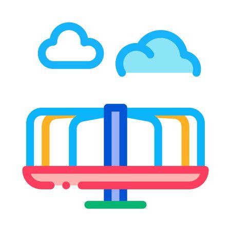 kids carousel icon vector. kids carousel sign. color symbol illustration Illustration