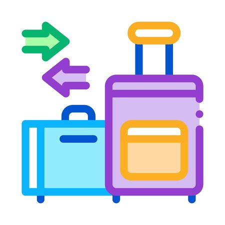 migration emigration baggage icon vector outline illustratio Vettoriali
