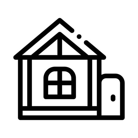 play house for children icon vector. play house for children sign. isolated contour symbol illustration