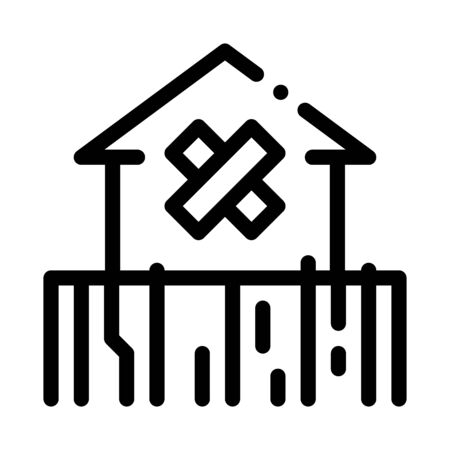 enclosed non-residential building icon vector. enclosed non-residential building sign. isolated contour symbol illustration