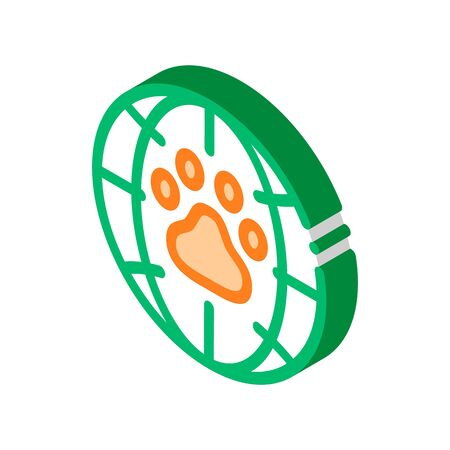 Animal Trail Planet Earth vector isometric sign. color isolated symbol illustration
