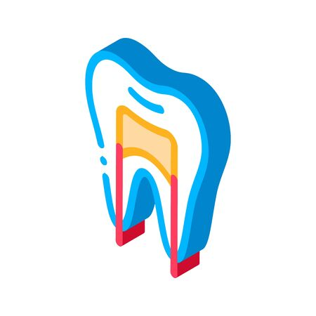 Dental X-ray Image Stomatology vector isometric sign. color isolated symbol illustration