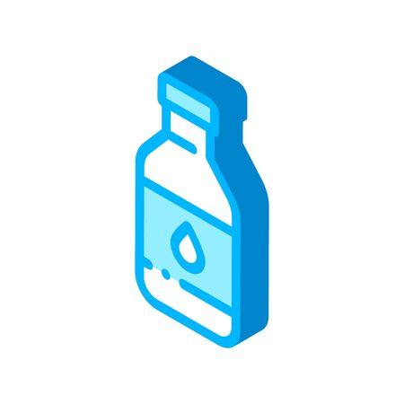 Healthy Water In Plastic Bottle vector isometric sign. color isolated symbol illustration Vektoros illusztráció