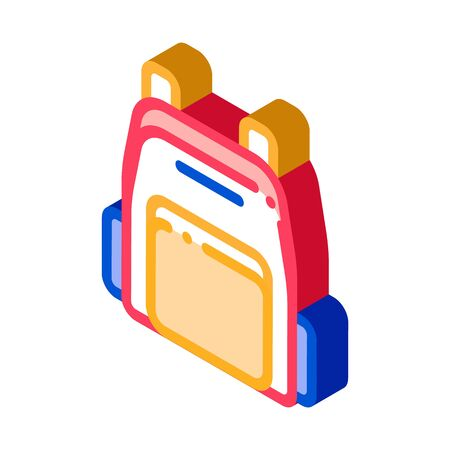 Rucksack Icon Vector. Isometric Rucksack sign. color isolated symbol illustration Фото со стока - 148407470