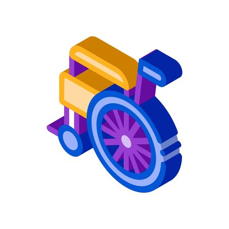 Self-Propelled Wheelchair Equipment vector isometric sign. color isolated symbol illustration Vector Illustration