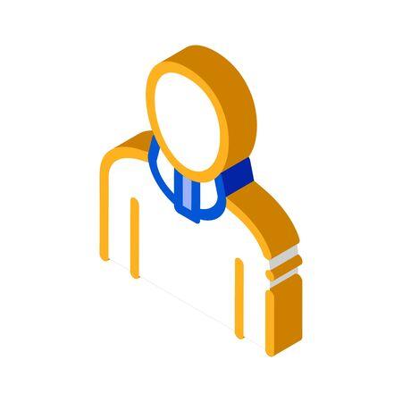 Orthopedic Cervical Collar For Neck Support vector isometric sign. color isolated symbol illustration Ilustração