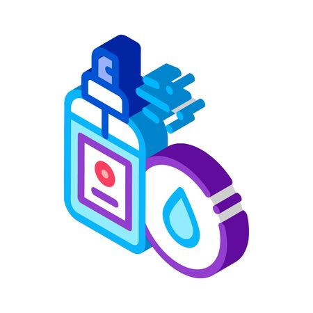 Waterproof Spray Icon Vector. Isometric Waterproof Spray sign. color isolated symbol illustration  イラスト・ベクター素材