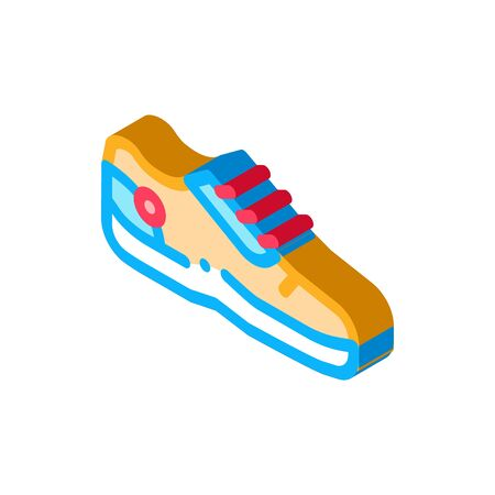 Special Sports Shoes Icon Vector. Isometric Special Sports Shoes sign. color isolated symbol illustration