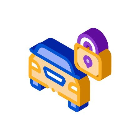 Machine Safe Closed Icon Vector. Isometric Machine Safe Closed sign. color isolated symbol illustration