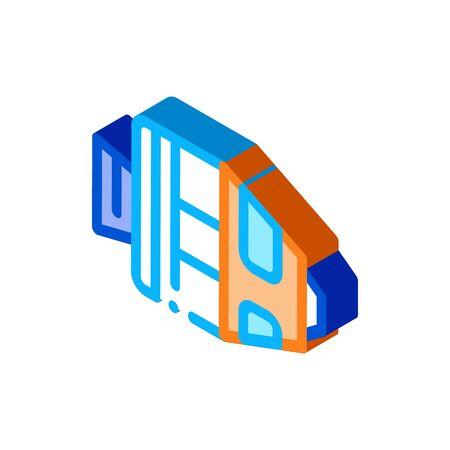 Spaceship Return Unit Icon Vector. Isometric Spaceship Return Unit sign. color isolated symbol illustration