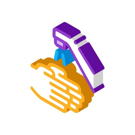 Hands Washing Water Tap Icon Vector. Isometric Hands Washing Water Tap sign. color isolated symbol illustration