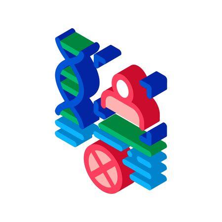 Rebuttal Paternity File Icon Vector. Isometric Rebuttal Paternity File sign. color isolated symbol illustration Иллюстрация