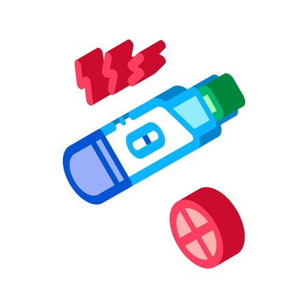 Negative Pregnancy Test Icon Vector. Isometric Negative Pregnancy Test sign. color isolated symbol illustration