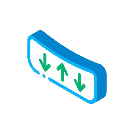 Shock Absorbing Mattress Icon Vector. Isometric Shock Absorbing Mattress sign. color isolated symbol illustration