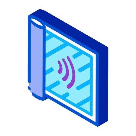 degree of audibility icon vector. isometric degree of audibility sign. color isolated symbol illustration