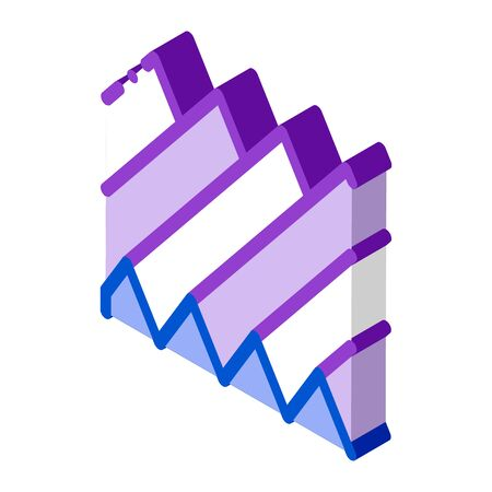 sound wave icon vector. isometric sound wave sign. color isolated symbol illustration Stock Illustratie