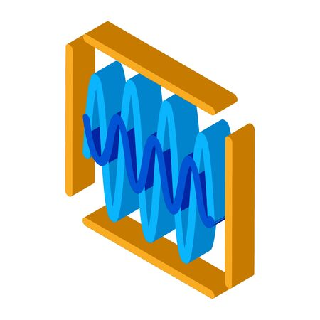 sound diagnostics icon vector. isometric sound diagnostics sign. color isolated symbol illustration Stock Illustratie