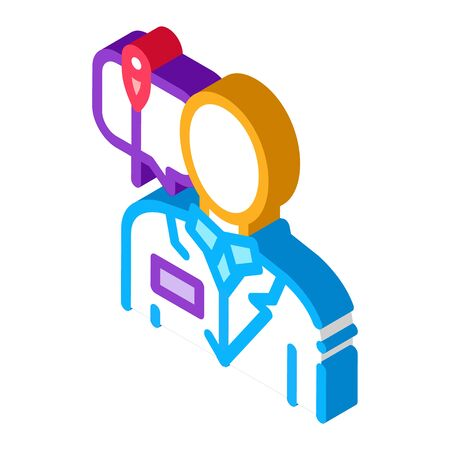 doctor acupuncture specialist icon vector. isometric doctor acupuncture specialist sign. color isolated symbol illustration Illustration