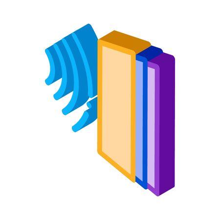 sound heading for door icon vector. isometric sound heading for door sign. color isolated symbol illustration