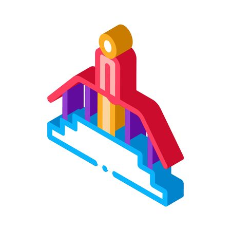 man on stairwell icon vector. isometric man on stairwell sign. color isolated symbol illustration Stock Illustratie
