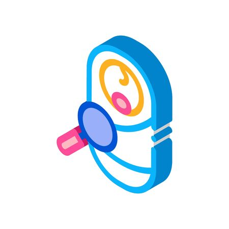 study examining newborn baby icon vector. isometric study examining newborn baby sign. color isolated symbol illustration