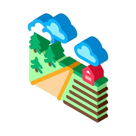 farm road icon vector. isometric farm road sign. color isolated symbol illustration